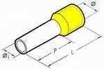 Isolierte Aderendhülsen 18 mm gelb 6,0 mm² - 100er VE