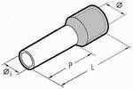 Isolierte Aderendhülsen 10 mm grau 4,0 mm - 100er VE