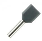 Double Wire Ferrules 8 mm grey 2 x 0,75 mm² - 500er PU