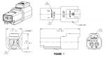 DEUTSCH Receptacle Housing 2-pole DT-Series with end cap
