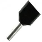 Double Wire Ferrules 8 mm black 2 x 1,5 mm² - 500er PU