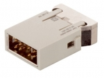 Megabit module male insert, 0,14-2,5mm², (one entry) crimp