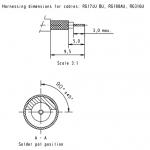 Han D-Sub solder contact, 50Ω, RG 174U, 188AU, 316U