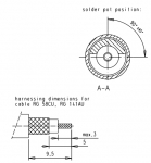 Han D-Sub solder contact, 50Ω RG 58CU, 141AU
