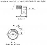 Han D-Sub solder contact, 50Ω, RG 178BU, 196AU, 404U