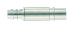 Pneumatic contact, female, with shut-off, straight, 6mm