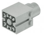 Han 200 A module, male, crimp, 25 - 70 mm², with protective insert