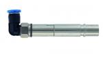 Pneumatikbuchsenkontakt Metall gewinkelt mit Absperrung 4mm