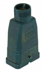 Han-Compact hood, top-entry, M25, for Han-compact half cable gland, chromated