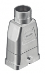Han-Compact hood, top-entry, M25, for Han-compact half cable gland, nickel plated