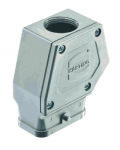 Han-Compact hood, top-entry, M25, for standard cable gland, nickel plated