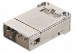 shielded module male insert, 0,09-0,52mm², crimp