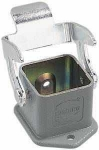 Han 3A housing, bulkhead mounted housing, straight, dust grey