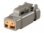 DEUTSCH Housing for female contacts 2-pole DTM-Series Terminating Resistor J1939