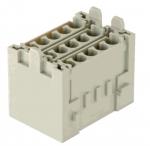 Han-Yellock multiplier block, female insert, crimp, 0,14-4mm²
