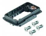 Han-Yellock 60 bulkhead housing, incl. 4 panel fastener, IP65, IP67