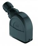 Han-Eco A 10A hood, integr. cable gland, side entry, 1xM20