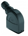 Han-Eco A 10A hood, integr. cable gland, side entry, 1xM25