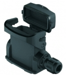 Han-Eco A 10A surface mounted housing, integr. cable gland, with thermo-plastic cover, side entry, 1xM25