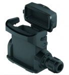 Han-Eco A 10A surface mounted housing, with thermo-plastic cover, integr. cable gland, side entry, 2xM20