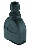 Han-Eco A 10A hood, integr. cable gland, top entry, 1xM20, outdoor