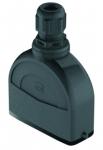 Han-Eco A 16A hood, integr. cable gland, top entry, 1xM25, outdoor