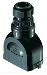 Han-Eco B 10B hood, integr. cable gland, top entry, 1xM32, single locking lever