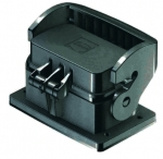 Han-Eco B 10B Bulkhead mounted housing, single locking lever, with thermo-plastic cover