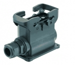 Han-Eco B 16B surface mounted housing, integr. cable gland, side entry, 1xM25