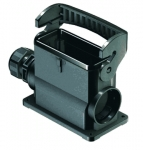 Han-Eco B 16B surface mounted housing, integr. cable gland, side entry, single locking lever, 1xM25