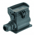Han-Eco B 16B surface mounted housing, with thermo-plastic cover, side entry, single locking lever, 1xM25