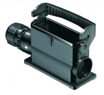 Han-Eco B 24B surface mounted housing, integr. cable gland, side entry, single locking lever, 1xM25