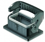 Han-Eco B 10B Bulkhead mounted housing, outdoor, single locking lever