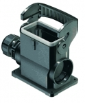 Han-Eco B 10B surface mounted housing, outdoor, integr. cable gland, side entry, 1xM25, single locking lever