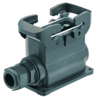 Han-Eco B 16B surface mounted housing, outdoor, integr. cable gland, side entry, 1xM25