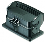 Han-Eco B 16B Bulkhead mounted housing with thermo-plastic cover, outdoor, single locking lever