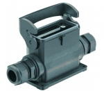 Han-Eco B 16B surface mounted housing, outdoor, integr. cable gland, side entry, single locking lever, 2xM40