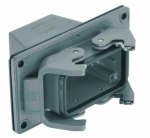 Han 10B panel feed through housing, top entry, 1xM32, high construction