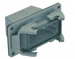 Han 16B panel feed through housing, top entry, 1xM32, double locking lever, high construction