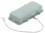 Han 16B protection cover for bulkhead and surface mounted housing, thermoplastic, with fixing cord