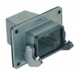 Han 16B panel feed through housing, top entry, 1xM32, single locking lever, high construction