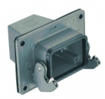 Han 16B panel feed through housing, top entry, 1xM40, single locking lever, high construction