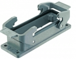 Han 24B bulkhead mounted housing, double locking lever, IP67