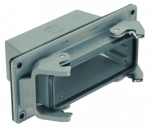 Han 24B panel feed through housing, top entry, 1xM32, double locking lever, high construction