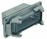 Han 24B panel feed through housing, top entry, 1xM40, double locking lever, high construction