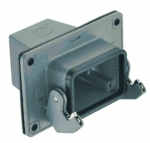 Han 24B panel feed through housing, top entry, 1xM40, single locking lever, high construction
