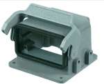 Han 10B Drive housing for motor application, with thermo-plastic cover, single locking lever