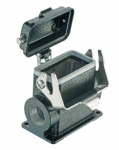 Han M 10B surface mounted housing, side entry, 2xM25, single locking lever, high construction