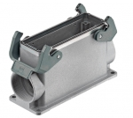 Han EMC/B 24B surface mounted housing, side entry, 2xM40, double locking lever, high construction