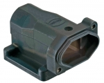 Han 3 HPR surface mounted housing, bottom closed, tapped blind hole for fixing screws, top entry, 1xM25, long version